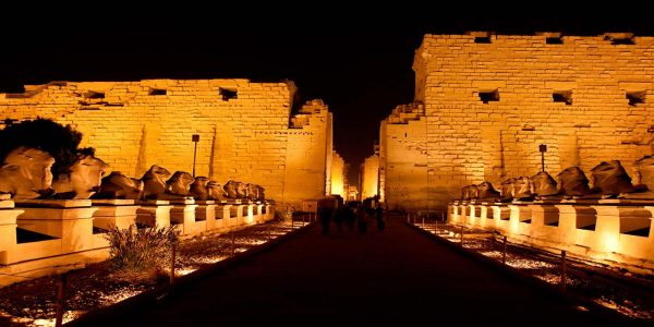 Sound-And-Light at Karnak Temple By night